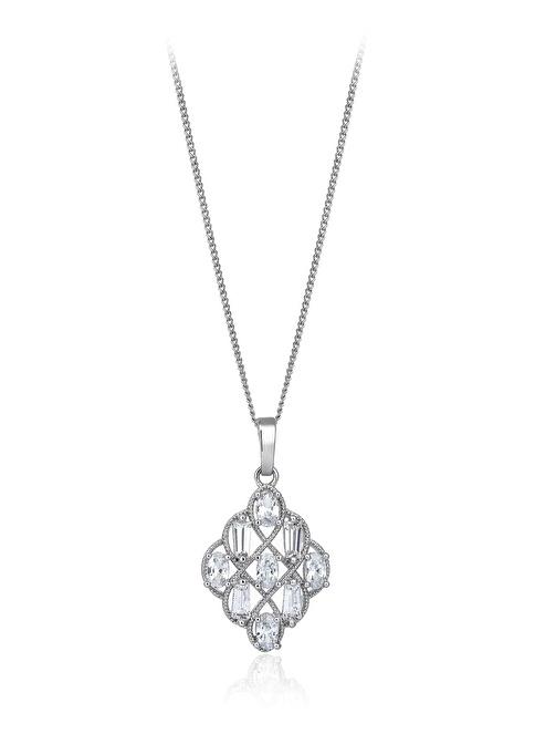 Tophills Diamond Co. 2,70 Ct Pırlanta Efekt Altın Hiedra Kolye Renkli
